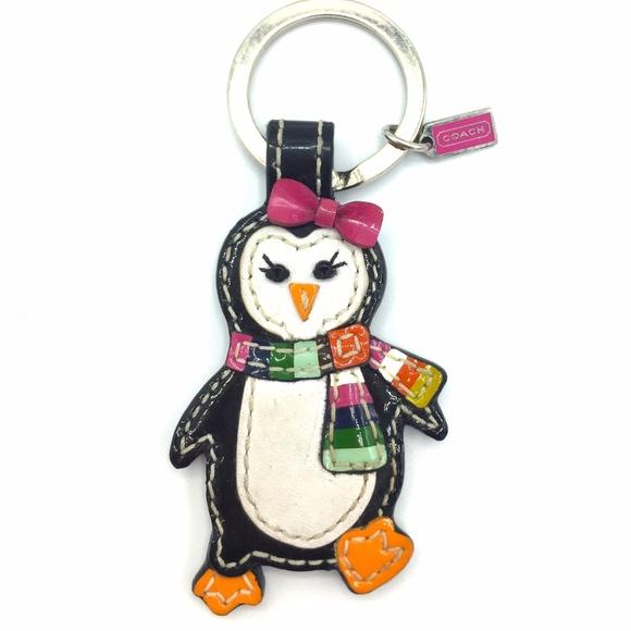 Authentic Coach Penguin Keychain